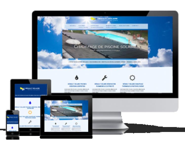 Visuel création de site internet Création de site internet vitrine
