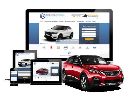 Visuel création de site internet Création de site internet pour professionnel automobile