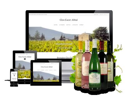 Visuel création de site internet Création de site internet pour caviste et vignerons